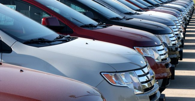 lineup of new and used cars