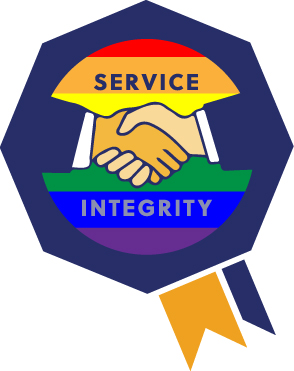 reliable credit logo supporting pride month